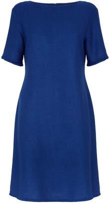 St. John Textured Knit Shift Dress