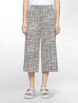 Calvin Klein Platinum Blurred Grid Print Culottes