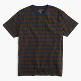 J.Crew Slub cotton T-shirt in blue and brown stripe