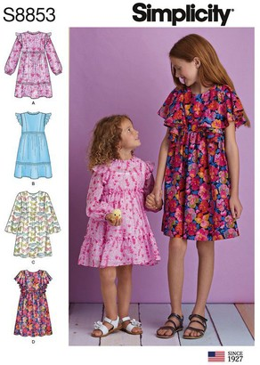 Simplicity Children's Dresses Sewing Pattern, 8853