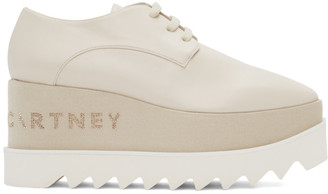 Stella McCartney Off-White Elyse Logo Derbys