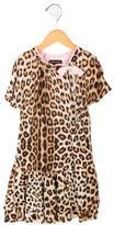 Roberto Cavalli Girls' Leopard Print Dress