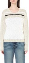 James Perse Striped linen-blend jumper