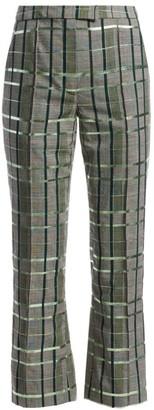Rosie Assoulin Scrunchy Plaid Pants