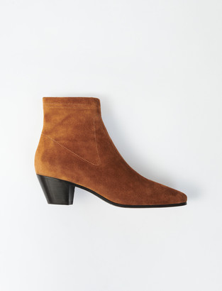 Maje Suede Sock Boots
