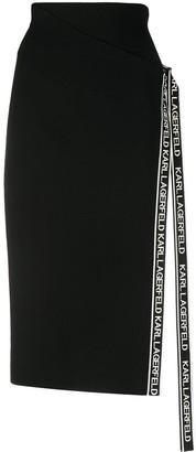 Karl Lagerfeld Paris Tape Wrap Knit Skirt