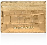 MICHAEL Michael Kors Embossed Leather Card Case