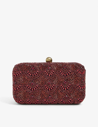 From St Xavier Colden Box sequinned clutch bag