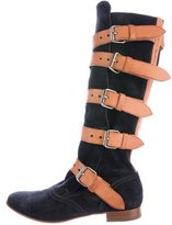 Vivienne Westwood Suede Mid-Calf Boots