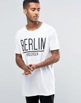 Brave Soul Long Line Berlin T-Shirt