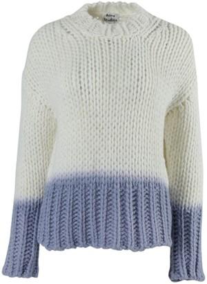 Acne Studios Ombre Dip Dye Knit Sweater White/ Blue