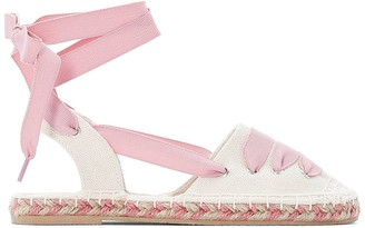 La Redoute Collections Canvas Espadrilles with Ribbon Tie
