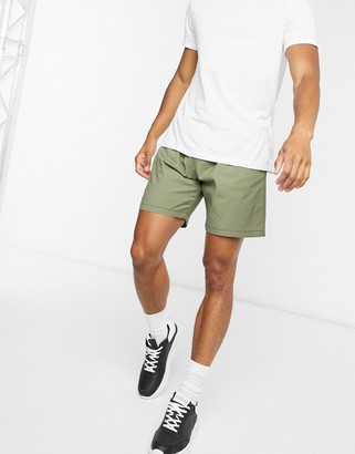 Levi's lightweight walk shorts in muddy forest green