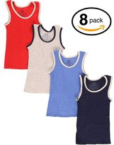 Fruit of the Loom 8Pack Boys Assorted A-Shirts Tank Tops Undershirts Tanks M