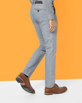 Ted Baker Oxford Cotton Trousers Blue