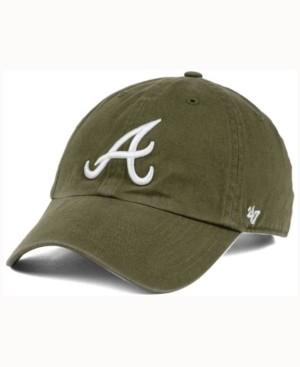 '47 Atlanta Braves Olive White Clean Up Cap