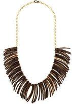 Kenneth Jay Lane Wood Petal Collar Necklace