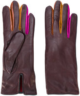 Paul Smith contrast finger panel gloves