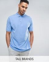 Polo Ralph Lauren Tall Pique Polo Slim Fit In Blue