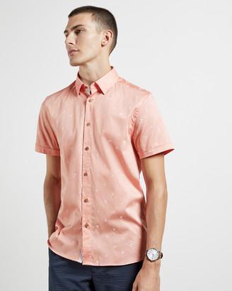 Ted Baker LENGTHN Short sleeved tropical print shirt