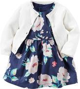 Carter's 2-pc. Dress & Cardigan Set - Baby Girls newborn-24m