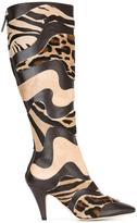 Alberta Ferretti animal print boots