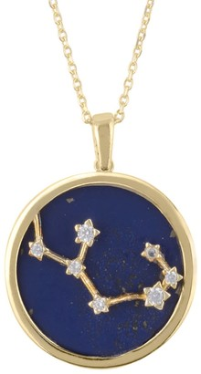 Latelita Zodiac Lapis Lazuli Gemstone Star Constellation Pendant Necklace Gold Sagittarius