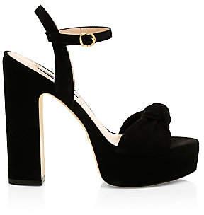 Stuart Weitzman Women's Mirri Suede Platform Sandals