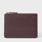 Paul Smith No.9 - Damson Leather Zip Pouch