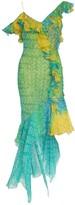 John Galliano Turquoise Silk Dress for Women Vintage