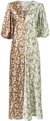 Lee Mathews Zoe puff sleeve dress