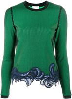 3.1 Phillip Lim embroidered hem knit - women - Polyester/Spandex/Elastane/Viscose - M