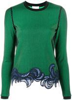 3.1 Phillip Lim embroidered hem knit - women - Polyester/Spandex/Elastane/Viscose - XS