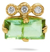Jacquie Aiche Diamond, tourmaline & yellow-gold earring