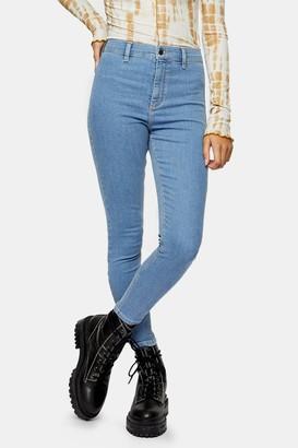 Topshop Womens Petite Bleach Wash Joni Skinny Jeans - Bleach Stone