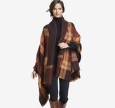Johnston & Murphy Double-Faced Plaid Blanket Wrap