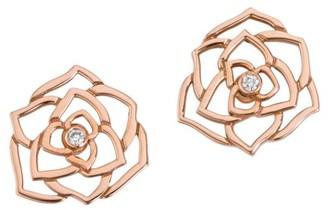 Piaget Rose 18K Rose Gold & Diamond Earrings