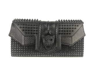 Philipp Plein Black Leather Clutch bags
