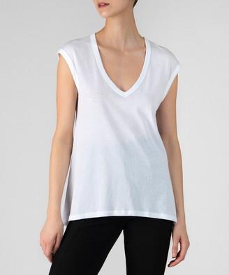 Atm Vintage Jersey Sleeveless Tee - White