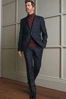 Next Blue Signature Check Slim Fit Suit: Trousers
