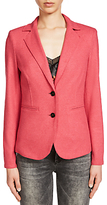 Oui Lightweight Wool Blend Jacket, Pink