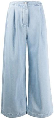 Loewe High Waisted Wide-Leg Jeans