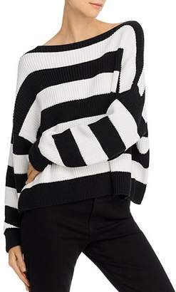 French Connection Mozart Stripe Cotton Boat-Neck Sweater