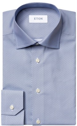 Eton Slim-Fit Micro-Print Dress Shirt