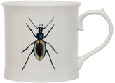 Magpie Curios Beetle Mug, White/Multi, 378ml