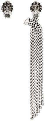 Gucci Silver Lion Head Tassle Earring