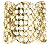 Ben-Amun Lattice Pearls Cuff