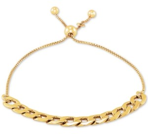 Giani Bernini Chain Link Bolo Bracelet in 18k Gold-Plated Sterling Silver, Created For Macy's