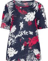 Jette Joop Plus Size Floral print linen t-shirt