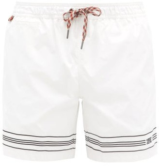 Burberry Martin Logo-embroidered Shell Swim Shorts - White